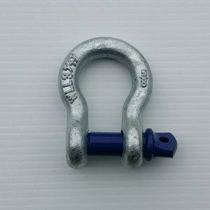 Blue Pin Standard Bow Shackles with Screw Pin